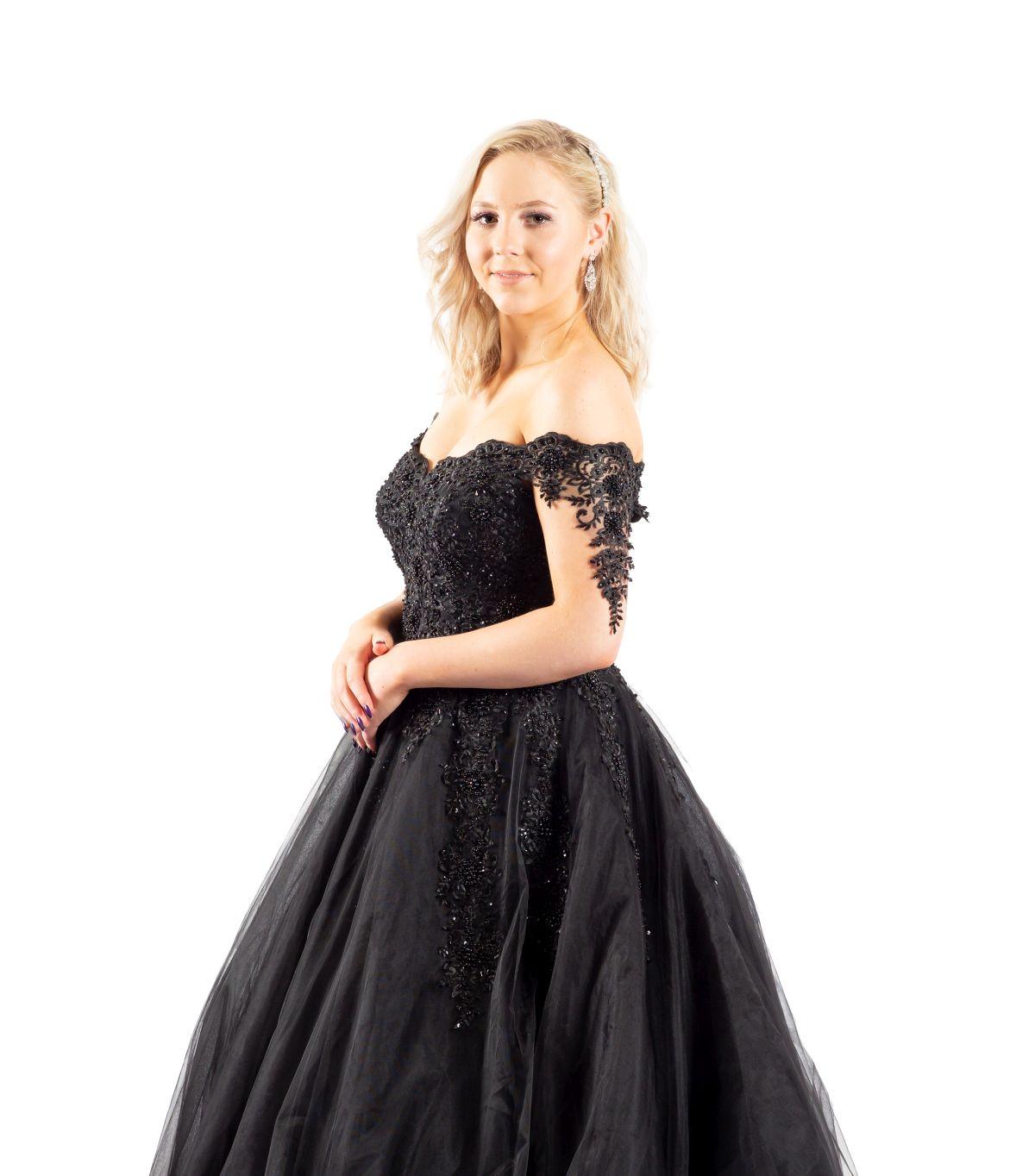 Shirin schwarzes Brautkleid detailansicht