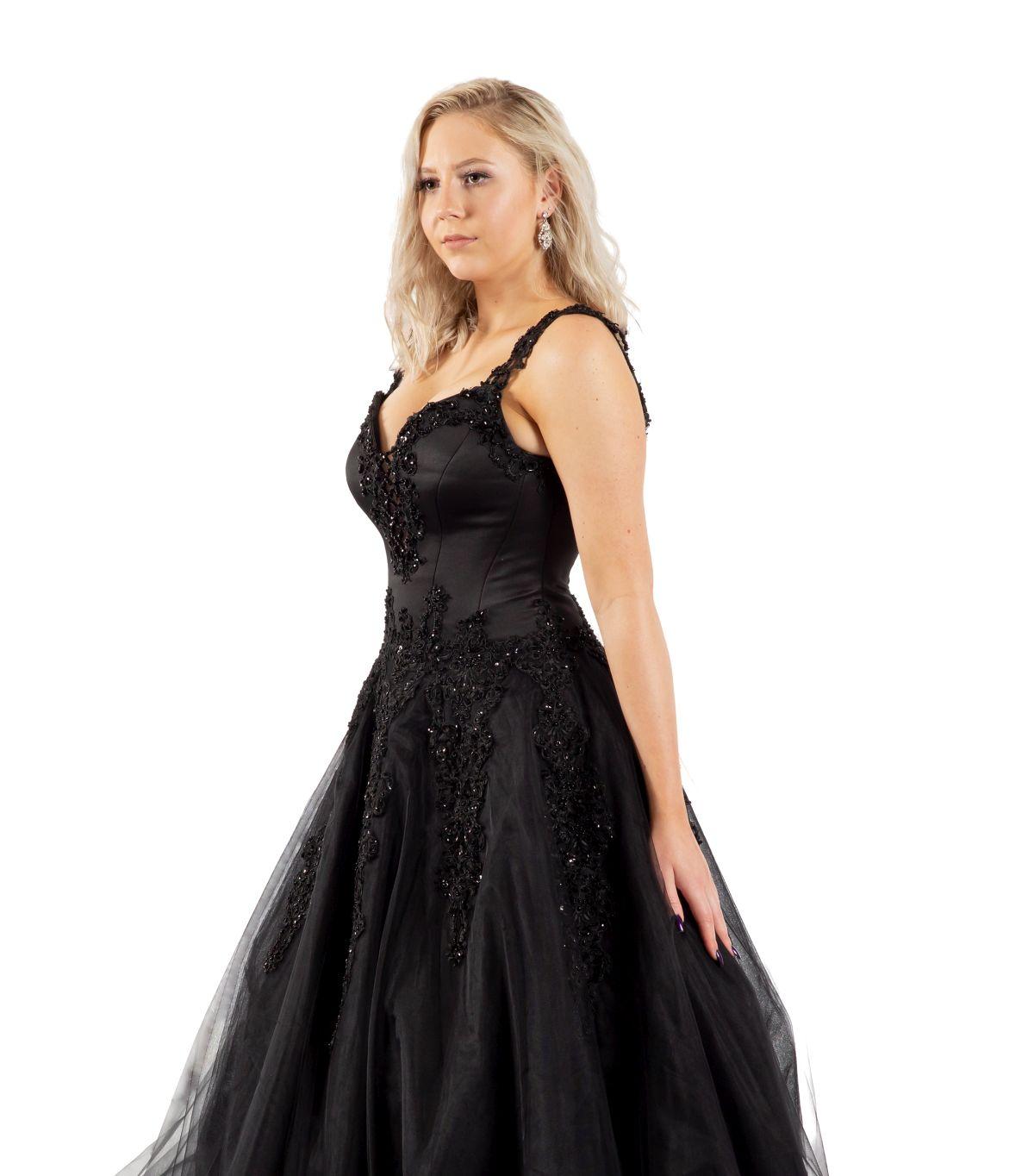 Sissy schwarzes Brautkleid detailansicht