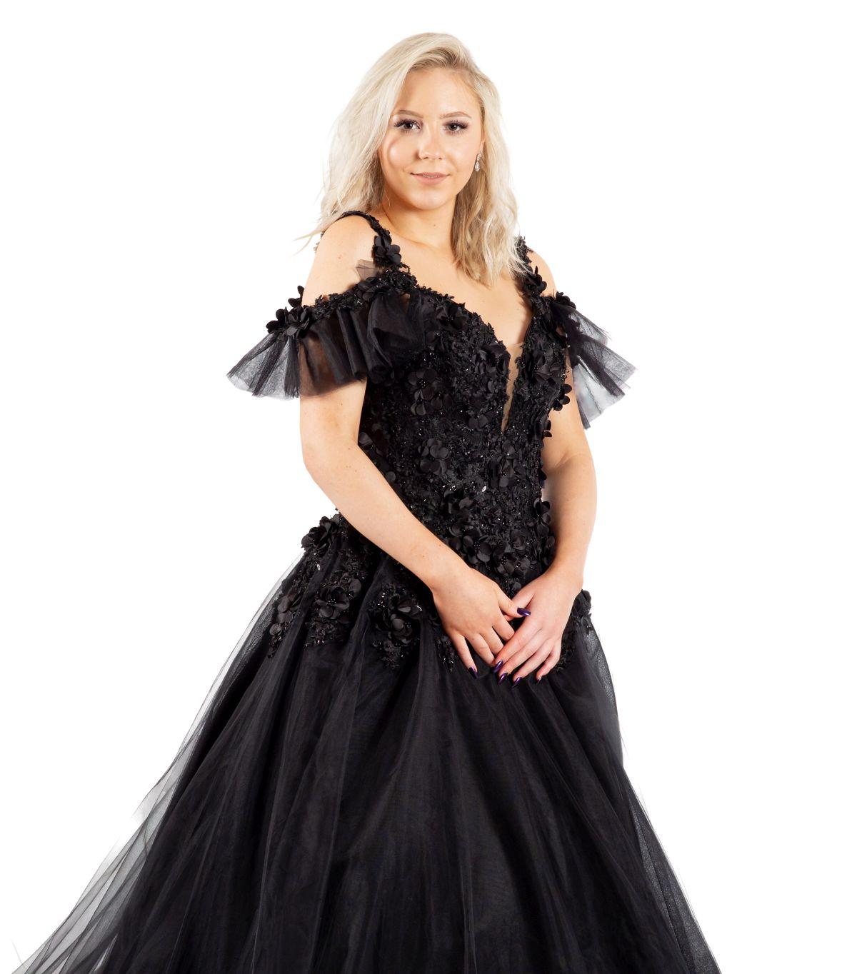 Susana schwarzes Brautkleid detailansicht